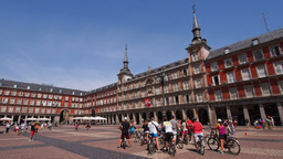 Plaza Mayor in Madrid Footage