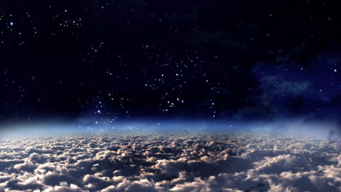 sky panning night to day Animation