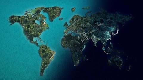 World City Day And Night