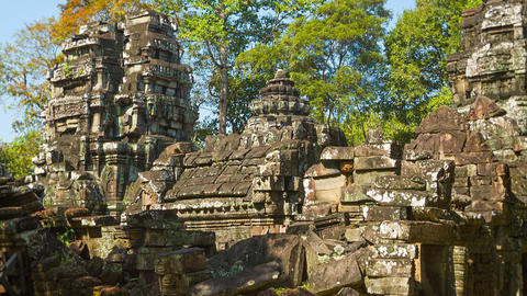 Ruins of ancient temples of the 12th century. Camb Footage