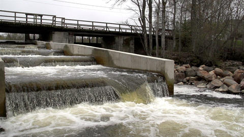 A fish ladder under the bridge Footage