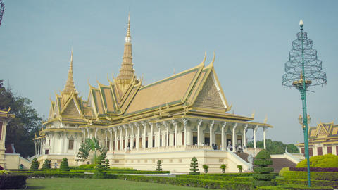 Royal Palace. Throne Hall in Phnom Penh. Cambodia Footage