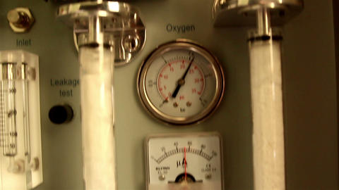Metal equipments in a laboratory with meter Footage