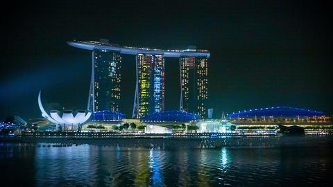 SINGAPORE - DEC 30 2013: Marina Bay Sands hotel at Footage