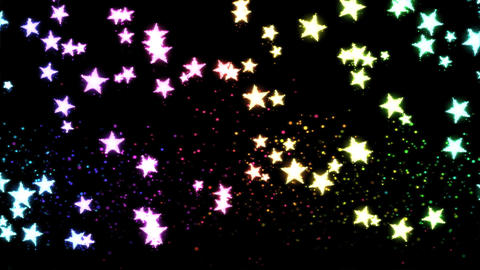 Glitter and Stars Decoration Background Rainbow Animation