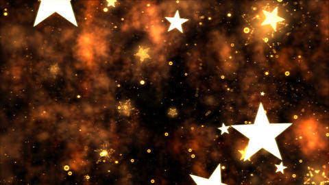 Abstract Star Shapes, Space - Loop Orange Animation