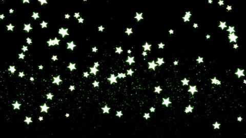 Glitter and Stars Decoration Background Green Animation