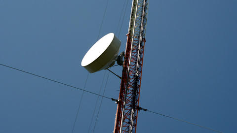 The Circular Dish From A GSM Tower FS700 4K Odysse stock footage