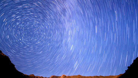 Milky Way In The Mountains. Line. Time Lapse stock footage