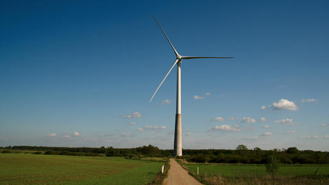The wide field where the windmill is located FS700 Footage