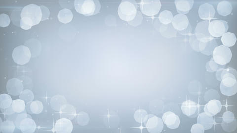 silver glitters frame festive loopable background Animation