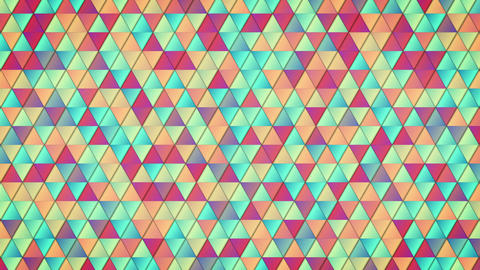 geometric pattern of colorful triangles loop Animation