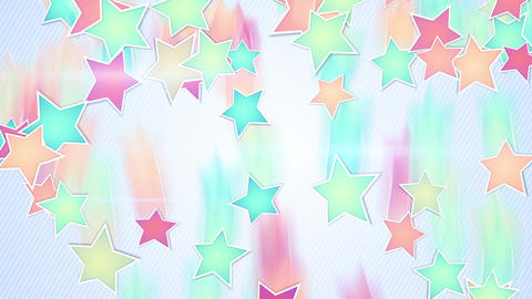 multicolor stars falling loopable background Animation