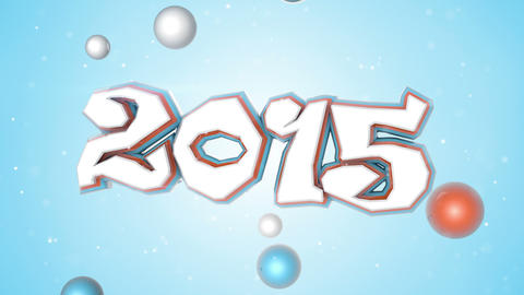 celebration 2015 new year 3D sign loopable Animation