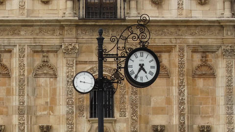 Clock and people walking time lapse Footage