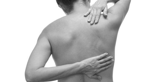 Female With Back Pain Black and White Live Action