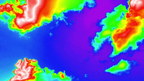 Cloud Thermal Imager Background Footage