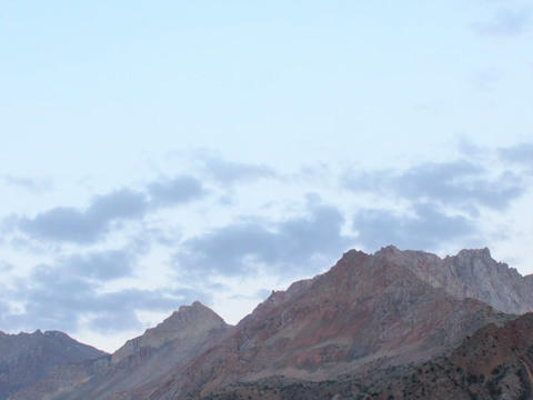 Mountains at sunset. Zoom. TimeLapse. Pamir, Tajik Footage