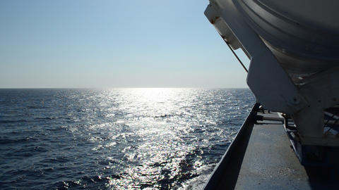 View From Ferry In Aegean Sea, Greece stock footage