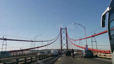 LISBON bridge POV Driving Footage