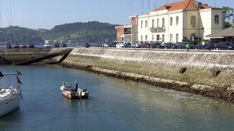 Lisbon fishing boat Footage