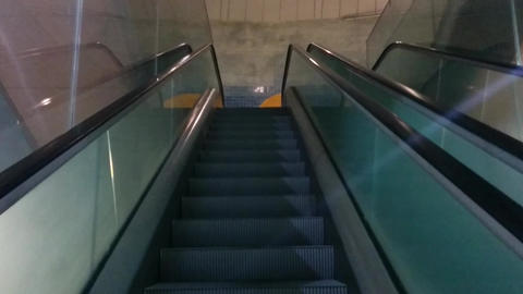 Lisbon Metro Escalator Point of View Footage