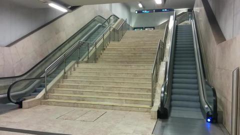 Lisbon Metro Escalator Footage