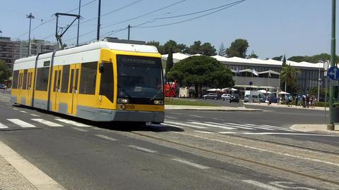 Lisbon Tram in Speen in Belém Live Action
