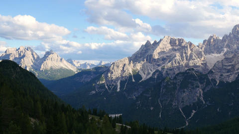 pan over dolomites alps 11519 Footage