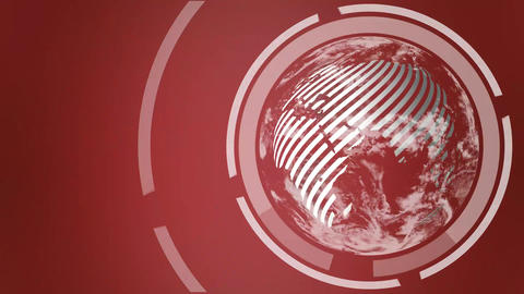 Globe Intro on red background Animación