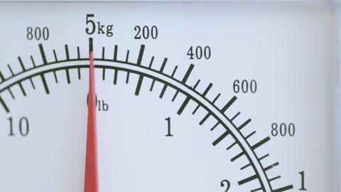 Food weighing scales Stock Video Footage