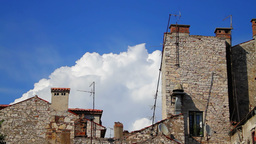 Old houses in Croatia, time-lapse Stock Video Footage
