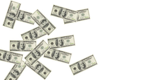 Pile of dollar bills Stock Video Footage