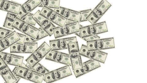 Pile of dollar bills Animation