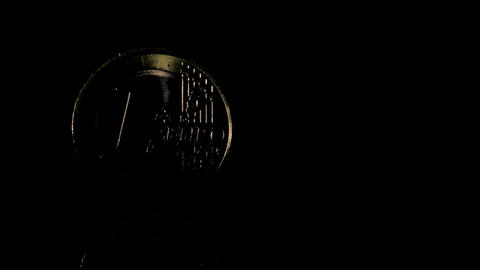 Euro coin Stock Video Footage