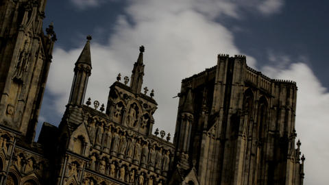 Timelapse Cathedral detail Stock Video Footage