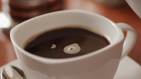 Sequence of Pouring coffee Stock Video Footage