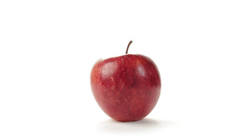 Red apple rotating Stock Video Footage