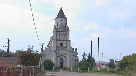 kostel zabolotiv 1 Stock Video Footage