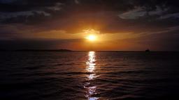 Sunset seascape Footage
