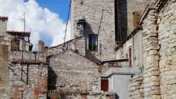 Old houses in Croatia, time-lapse Footage