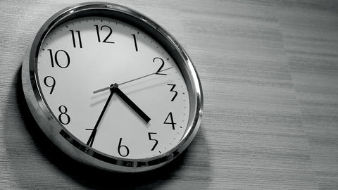 wall clock in the Office Stock Video Footage