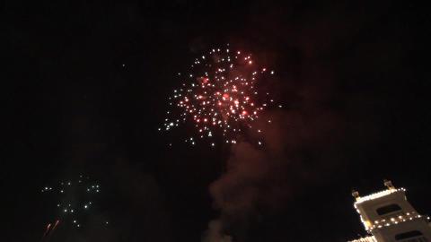 celebratory Fireworks Stock Video Footage