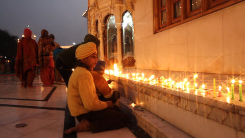 religious candlelit ceremony Stock Video Footage