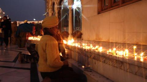 religious candlelit ceremony Footage