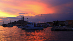 Rovinj city on sunset, Croatia Stock Video Footage
