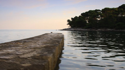 Lagoon in Adriatic Sea at summer Stock Video Footage