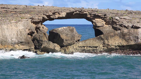 Ocean Rock Formations Stock Video Footage