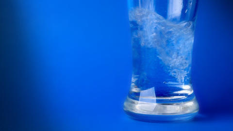 crystal clear water in a glass Stock Video Footage