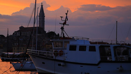 Rovinj city on sunset, Croatia Footage